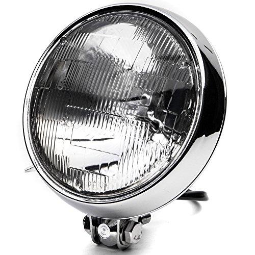 Krator 6 Chrome Motorcycle Headlight Bottom Mount Running Light Thin High  Low Beam for Kawasaki Eliminator BN 125 250 600 900