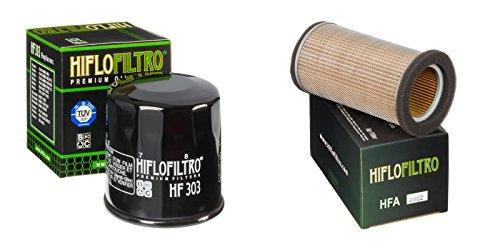 Oil and Air Filter Kit for KAWASAKI ER-5 Twister 35ps 50ps 99 HIFLO FILTRO