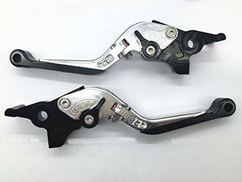Decal Story Silver CNC Foldable Extendable Adjust Brake Clutch Lever For Kawasaki ER6-N (09-12)  Versys (09-12)  Ninja 400R (2011)  Ninja 650R (09-10)
