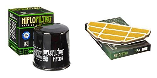 Oil and Air Filter Kit for KAWASAKI ZX600 G1-G2 ZX6-R Ninja 98-99 HIFLO FILTRO