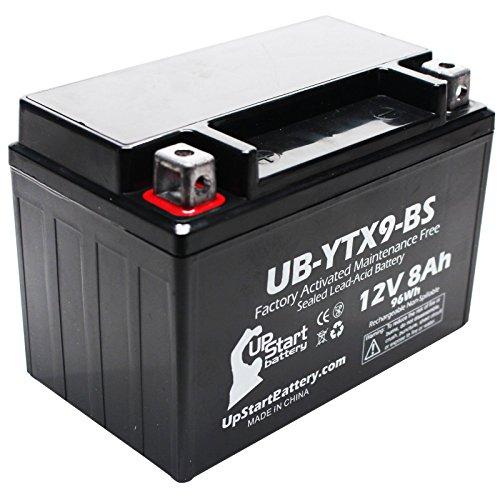 Replacement 2000 Kawasaki ZX600-G J Ninja ZX-6R 600CC Factory Activated Maintenance Free Motorcycle Battery - 12V 8Ah UB-YTX9-BS