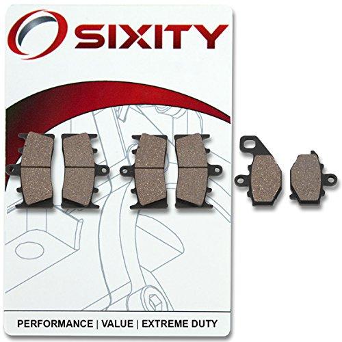 Sixity Front  Rear Organic Brake Pads 1998-2002 Kawasaki ZX600 Ninja ZX-6R Set Full Kit G1 G2 J1 J2 J3 Complete