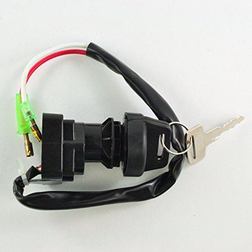 Ignition Key Switch For Kawasaki KVF 400 Prairie KLF 300 400 Bayou 1988 1989 1990 1991 1992 1993 1994 1995 1996 1997 1998 1999 2000 2001 2002 2003 OEM Repl27005-1132 27005-1159 27005-1201