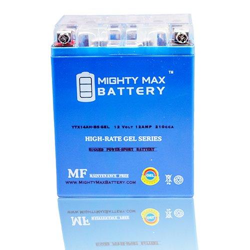 YTX14AH 12V 12AH GEL Battery for Kawasaki 360 360 KVF360 Prairie 2013 - Mighty Max Battery brand product