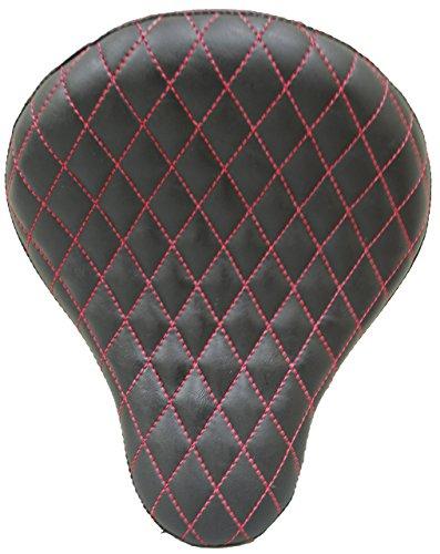 La Rosa 16 Harley Chopper Bobber Black Vinyl Red Diamond Tuk Solo Seat
