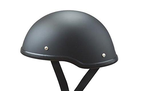 Low Profile Novelty Harley Chopper Motorcycle Half Helmet Skull Cap Flat Matte Black XL 23 34 - 24 14