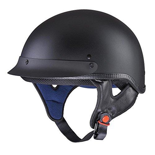 Yescom Motorcycle Half Face Helmet DOT Approved Motorbike Cruiser Chopper Matt Black L