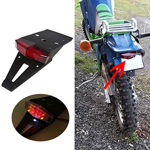 YIBO Motorcycle Enduro LED Rear Fender Brake Tail Light Turn Signal For KTM Kawasaki Suzuki Chopper Bobber Dirt Bike Yamaha Honda