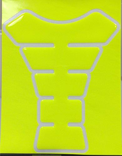 Neon Yellow 3d Gel Motorcycle Gas Tankpad Kawasaki Ninja ZX Suzuki GSXR Honda CBR Yamaha YZF Triumph Motorcycle TanK pad Decal Sticker