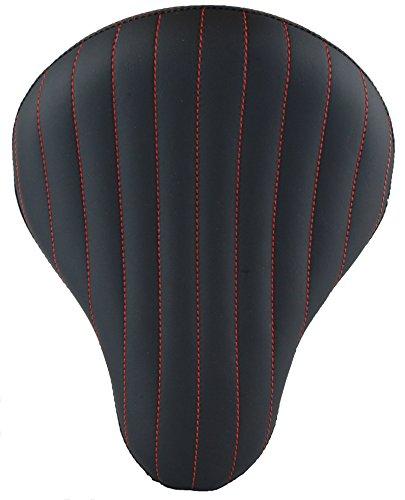 Chopper Bobber 16 Eliminator Solo Seat Black Tuk n Roll Red Thread