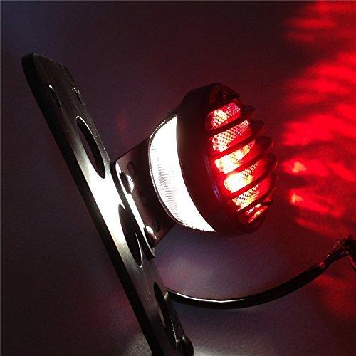 Astra Depot Motorcycle Side Mount License Bracket Tail Light for Custom Bobber Chopper Sportster XL