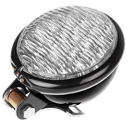 LEMONBEST Fashion Motorcycle 5 LED Headlight Head Lamp Light 12V Motor Head light White For Harley Bobber Choppers Touring Custom Bikes