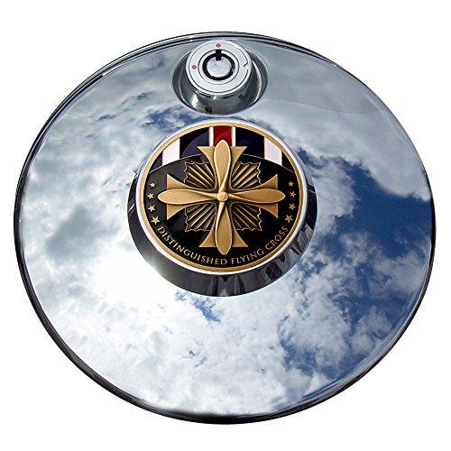 MotorDog69 Distinguished Flying Cross Harley Fuel Door Cover Coin Mount Set…