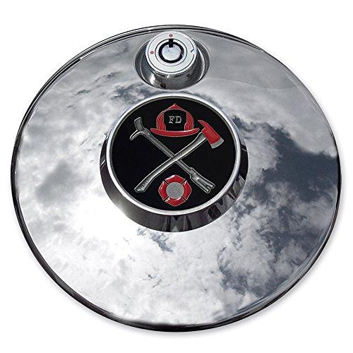 MotorDog69 Fire Fighter Axe and Halligan Harley Fuel Door Cover Coin Mount Set…