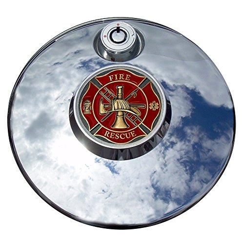 MotorDog69 Fire Rescue Harley Fuel Door Cover Coin Mount Set…