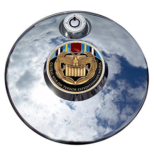 MotorDog69 Global War On Terror Expeditionary Medal Harley Fuel Door Cover Coin Mount Set…