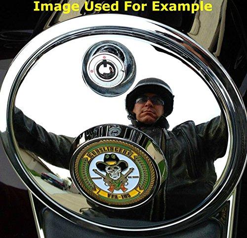 MotorDog69 Harley Fuel Door Cover Coin Mount