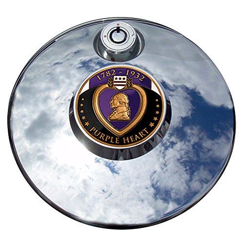 MotorDog69 Purple Heart Harley Fuel Door Cover Coin Mount Set…