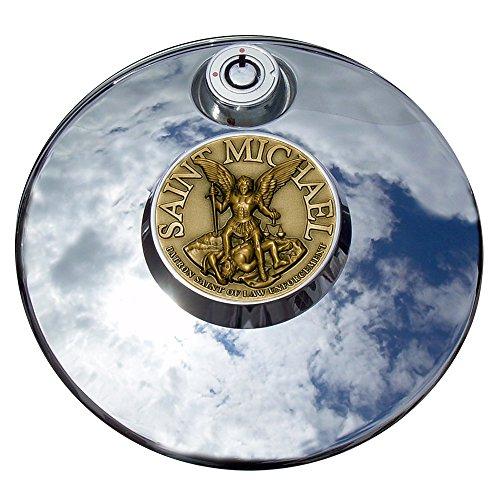 MotorDog69 Saint Michael Liberty Justice Harley Fuel Door Cover Coin Mount Set…