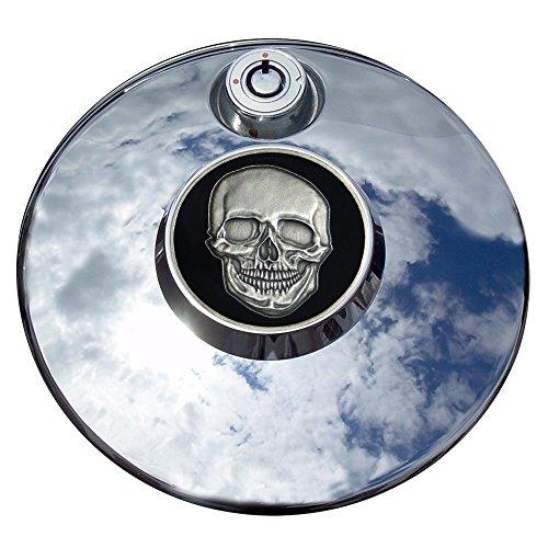 MotorDog69 Skull And Crossbones Harley Fuel Door Cover Coin Mount Set…