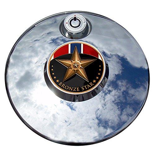 MotorDog69 Bronze Star Harley Fuel Door Cover Coin Mount Set…