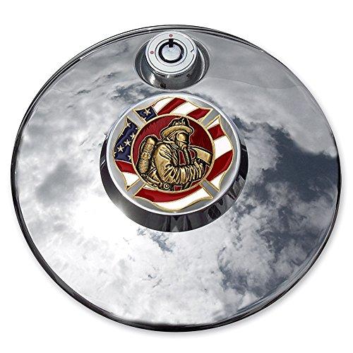MotorDog69 Fire Rescue Flag Harley Fuel Door Cover Coin Mount Set…