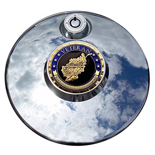 MotorDog69 Operation Enduring Freedom Harley Fuel Door Cover Coin Mount Set…