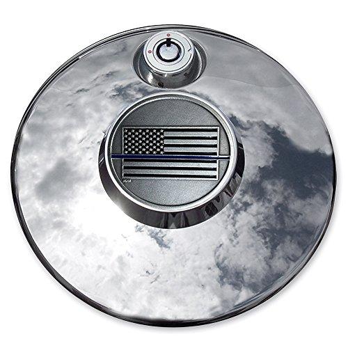 MotorDog69 Police Thin Blue Line Harley Fuel Door Cover Coin Mount Set…