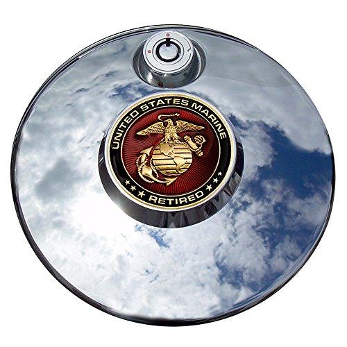 MotorDog69 Retired Marine Harley Fuel Door Cover Coin Mount Set…