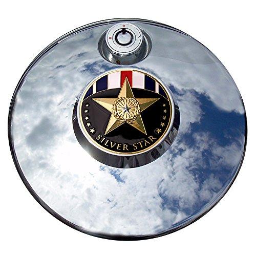 MotorDog69 Silver Star Harley Fuel Door Cover Coin Mount Set…