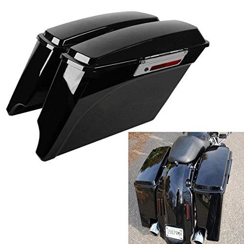 TCMT 5 Hard Saddle bags Extended Saddlebag Trunk  Lid Latch Keys For Harley Touring FLH FLT Electra Glide Road king Ultra Street 1993 1994 - 2013