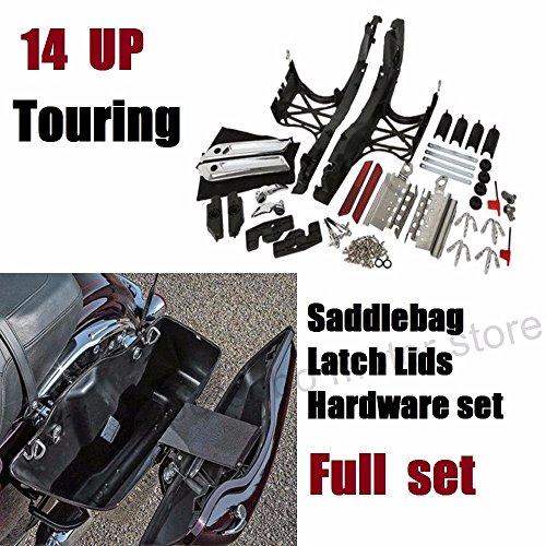 XMT-MOTO Black Hard Saddlebag Locks Set fits for Harley Davidson Touring Road Glide King 1993-2013