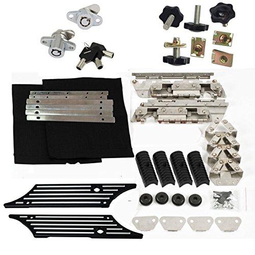 Saddlebag Latch Hardware Kit Black Billet Cover theft deterrent for Harley 93-13