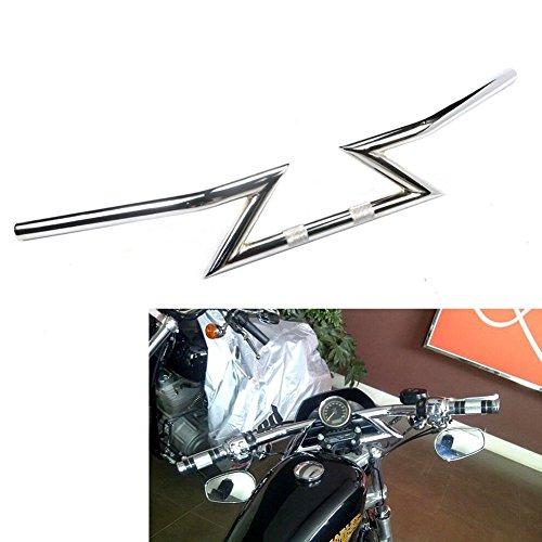 1 inch steel Z-Bar Drag style Knurling handlebar for Harley Motorcycle Cruiser Custom Touring Honda Shadow Suzuki