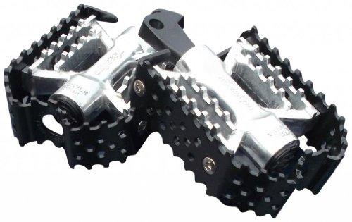 DK Custom Products TRIPLE TRAP CUSTOM FOOT PEGS ~ Black Silver Harley Motorcycle Foot Pegs DK-BTT-CFP