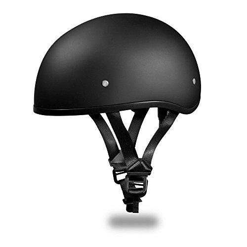 Daytona BasicCustom without Visor DOT Approved 12 Shell Harley Motorcycle Helmet - Dull Black  4X-Large