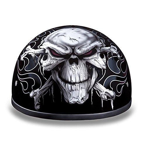 Daytona Cross Bones DOT Approved 12 Shell Harley Motorcycle Helmet  Medium
