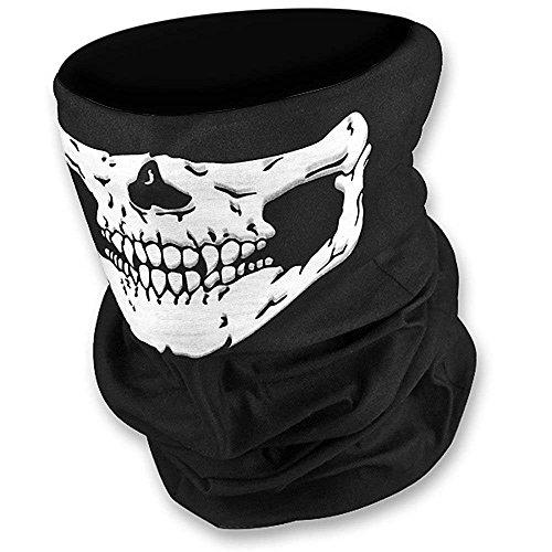 Stretchable Tubular Skull Face Mask Harley Motorcycle Biker Seamless Neck Tube