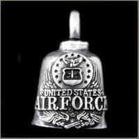 US Air Force Logo Gremlin Bell guardian biker harley motorcycle good luck charm