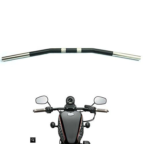 Alpha Rider Drag Style Steel Handlebars Drag Bar Dimpled for Harley Davidson Sportster 883 1200 Nightster 07-later XL 1 inch