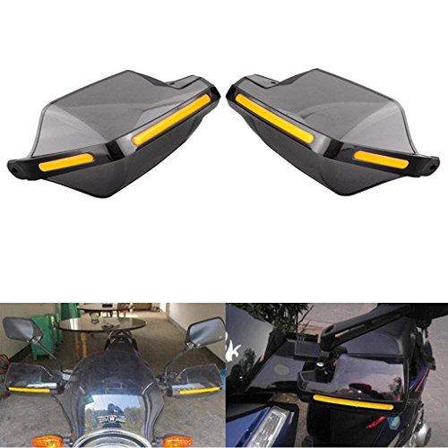 Hanperal 1Pair Motorcycle Hand Guards 78 Handlebar Handguard Handle Protector Bike Brush Wind Guard Smoke-Transparent