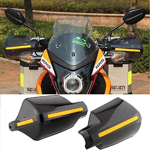 Pair Motorcycle Hand Guards 78 22mm Handlebar Handguard Handle Protector Bike Brush Wind Guard Black