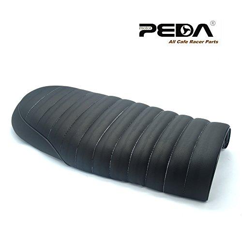 Peda New Black Cafe Racer Flat Seat Retro Locomotive Refit Motorcycle Seats Leather Waterproof
