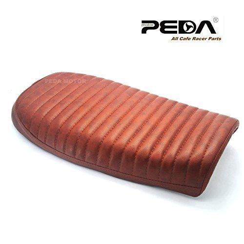 Peda New Brown Cafe Racer Flat Seat Retro Locomotive Refit Motorcycle Seats Vintage Leather Waterproof