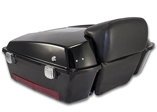 Bagger Brothers BB-HD1584-037 Vivid Black Chopped Tour Pak with Backrest
