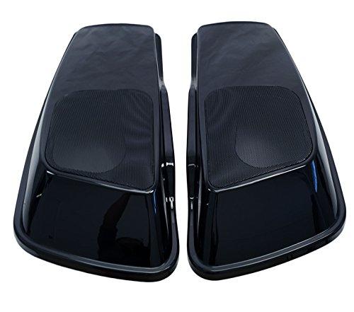 Mutazu 6x9 Vivid Black Speaker Lids for Harley Touring Models