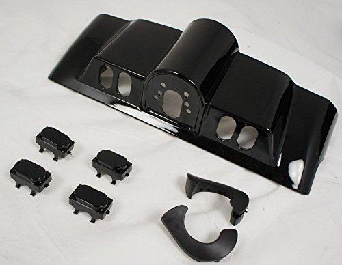 New Vivid Black Inner Fairing Cap kit w Switch Cap fits Harley FLHR FL Touring