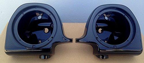 Speaker Pods Box Boxes 65 for Harley Davidson Touring Models 1994-2013 Lower Vented Fairings Gloss Vivid Black HD