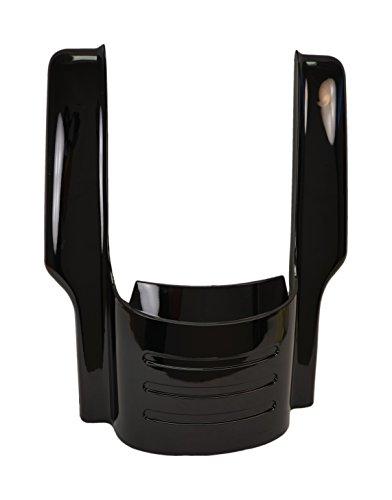 Vivid Black 09 Up 7 Fender Filler Extension for Harley Touring