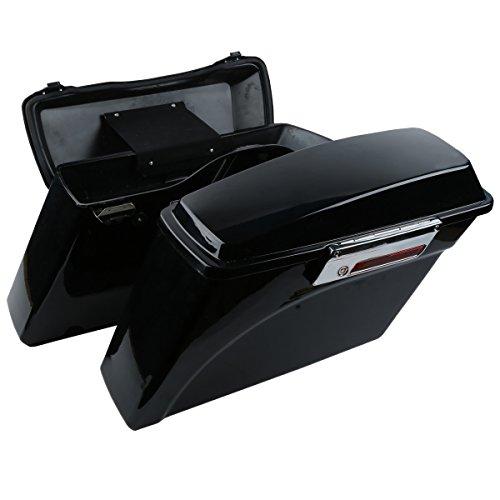 XFMT Vivid Black Hard Saddlebags Lid Latch Key For Harley Street Electra Glide 1994-2013